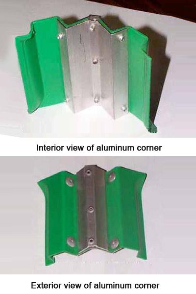 Aluminum corners